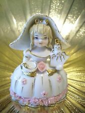 RARE Vintage Lefton Little Miss Muffet Storybook Pink Girl Figurine MINT