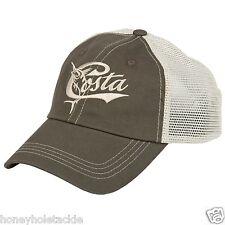 BRAND NEW COSTA DEL MAR MESH RETRO ADJUSTABLE CAP HAT  MOSS STONE
