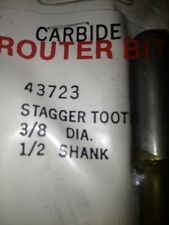 """New Old Stock Idustrial Carbide Tipped Router Bits 1/2"""" Shank"""