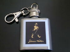 Johnnie Walker Hip Flask 1oz key ring Scotch Barware