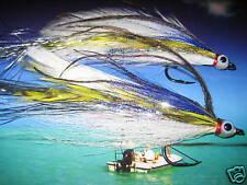 2 V Fly Size 4/0 RV Silver Sar Mal Mac Special Baitfish Predator Saltwater Flies