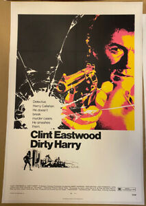 Dirty Harry Original US One Sheet LINEN BACKED US One Sheet 1971 Film Poster DOM