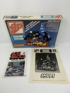 Loc Blocs Smurf House | Entex 1982 Dia Block Lock Smurfs With Instructions