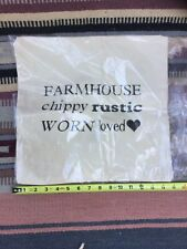 Farmhouse Rustic Wordage Handmade Duck Cloth