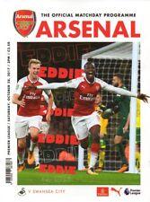 Arsenal v Swansea City 28/10/2017 programme + poster