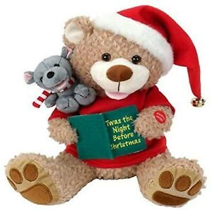 Animation & Motion Plush Bear Mouse Twas The Night Before Christmas Reads Story