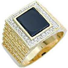 Onyx Brass Rings for Men
