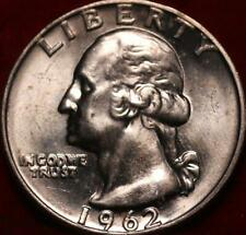 Uncirculated 1962-D Denver Mint Silver Washington Quarter