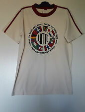 LOTTO T-SHIRT HOMME TAILLE S/ FR2/ UK36-38 MONTREAL 1976 ATHLETIC WORLD GAMES