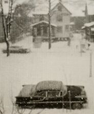1960/72 Vintage ANSEL ADAMS Rochester House Car Snow Street Scene Photo Art 8X10