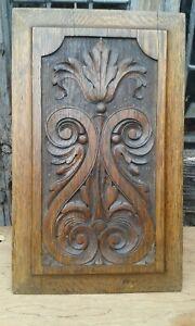 Nice Old Hand Carved Detailed Oak Panel C1840