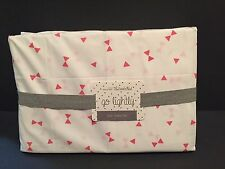Land of Nod Twin Sheet Set GO LIGHTLY PINK