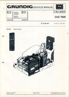 GRUNDIG - CUC 7820 - Service Manual Anleitung - H-5390
