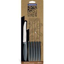 Coltello da tavola grigio per cucina Tramontina 22cm lama in acciaio 6pz origina