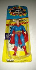 SUPER POWERS COLLECTION SUPERMAN 1986 VINTAGE KENNER BRAND NEW ON THE CARD