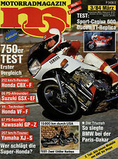 mo 3/84 1984 Moto Guzzi V65 Lario TT Enduro Morini 350 K2 Puch Lido 50SL Benelli