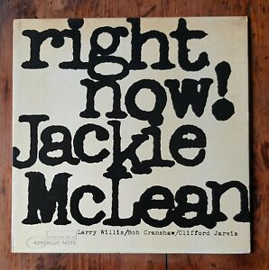 JACKIE MCLEAN  Right now - blue note original Italy LP NM