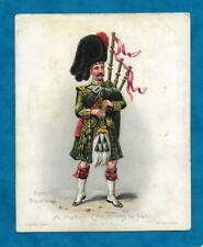 VICTORIAN CHRISTMAS CARD PIPER OF THE BLACK WATCH SOLDIER / MILITARY