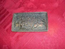 coupelle en bronze signée max le verrier chasse au moyen age vers 1346