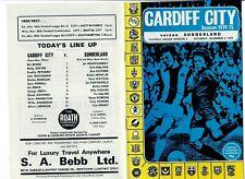 Cardiff City v Sunderland - 02/11/1974