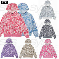 BTS BT21 Official Authentic Goods Hooded Zip Up Jacket by Line Friends
