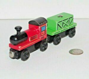 Melissa & Doug Puzzle World Wooden Train Engine & Cargo Car Works Thomas Railway