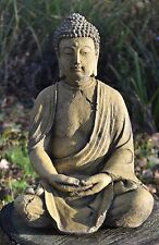 BUDDHA BUDDAH GARDEN STATUE frostproof stone SEATED MEDITATING GARDEN ORNAMENT