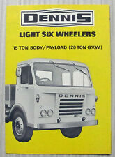 DENNIS LIGHT SIX WHEELERS Sales Brochure #NS 1205 LOADCARRIERS & TIPPERS