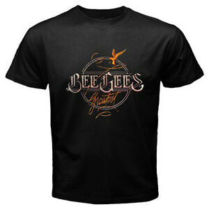New The Bee Gees Greatest Hits Album Pop Rock  Men's Black T-Shirt Size S-3XL