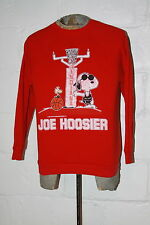 VTG Indiana University Hoosiers Snoopy Peanuts Joe Cool Crewneck Sweatshirt Sz L