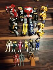 Mighty Morphin Power Rangers 2010 Dino Megazord And Figure Lot