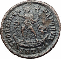 THEODOSIUS I the Great on galley Authentic Ancient 383AD Roman Coin i80000