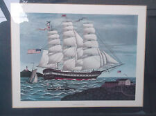 "Charles Wysocki Columbia Print-Framed & Matted-23 1/2"" X 19"""