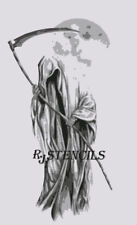 Multilayer step by step airbrush stencil GRIM REAPER 2