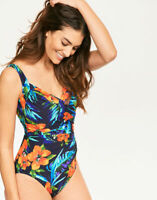 $176 NEW MIRACLESUIT SANIBEL SAMOAN SUNSET ONE-PIECE SLIMMING SWIMSUIT WOMENS 16