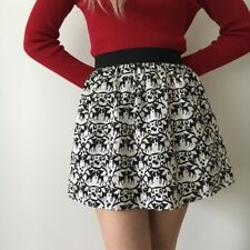 Topshop Deer Friend Concession Kitsch 50's Skirt Bow Silhouette Cherry Christmas