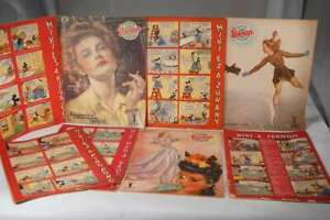 1940's vintage Walt Disney Donald / Mickey Sunday Strips in Hungarian Magazine