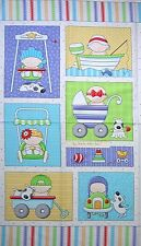 BABIES Fabric Cotton Large Craft COT Quilting Panel Toddlers Timeless Treasures