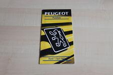 106930) Peugeot 106 205 306 309 405 605 - Preise & Extras - Prospekt 04/1993