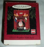 Hallmark Keepsake Christmas Xmas Ornament Lego Fireplace With Santa 1995