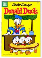 Walt Disney's DONALD DUCK #53 in VF+ condition  DELL 1957 comic