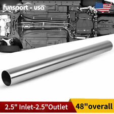 """Od 2.5"""" Inlet Straight Exhaust Pipe Tubing 4' Feet Stainless Steel Piping Tube"""