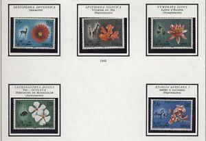 Somalia 1965 Animali e fiori serie cpl nuova gomma integra MNH T386