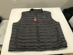 NWT $130.00 Columbia Mens Powder Lite Puffer Vest Gray Stripe Size 4X / 4XL
