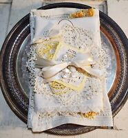 Vintage Linens ' Wild Flower' Bundle for Cutting and Crafting - 8 Pieces