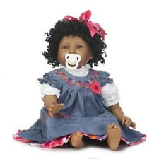 Black Baby Girl Doll Indian Style Full Body Silicone Vinyl Rebon Newborn Dolls