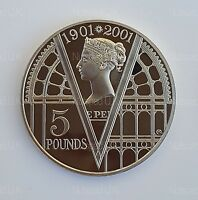 2001 U.K. £5 Royal Mint Victorian Era Proof  Five Pound Coin ( only 100,000 )