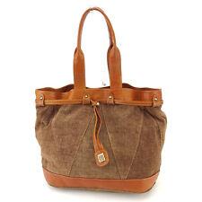 Lanvin Shoulder bag Brown Gold Woman unisex Authentic Used L1369