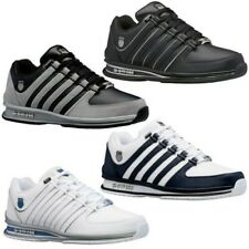K-Swiss Mens Rinzler Lace Up Tennis Leather Logo Sneakers Trainers Court Shoes