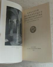 English Romanesque Architecture Before the Conquest A. W. Clapham 1930 H/B Illus